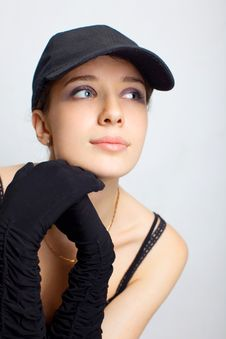 Free Sexy Girl In A Black Clothing Royalty Free Stock Photos - 14780698