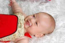 Free Infant Baby Lying Stock Photography - 14781532