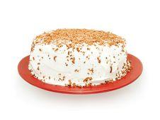 Cake With Chocolate Sprinkles Royalty Free Stock Photos