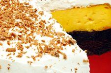 Cake With Chocolate Sprinkles Closeup Detail Royalty Free Stock Photos