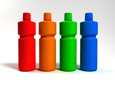 Free Bottles Wash Royalty Free Stock Photography - 14781777