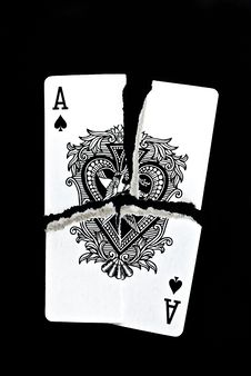 Free Ripped Up Ace Of Spades Stock Photos - 14781853