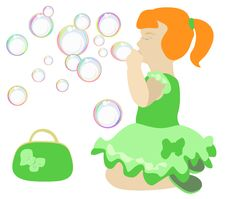 Free Girl And Soap Bubbles Stock Photography - 14781862