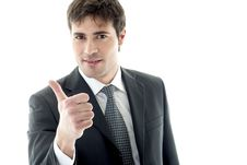 Free Businessman With Thumb Up Royalty Free Stock Images - 14781909