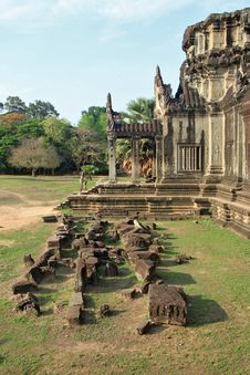 Angkor Wat External Wall Royalty Free Stock Images