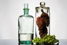 Free Old Bottle And Glass Container Royalty Free Stock Photos - 14782098