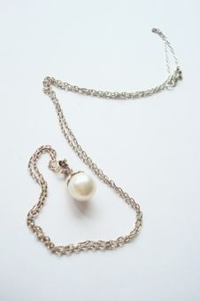 Free Necklet With Pearl Stock Photo - 14782970