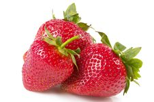 Free Three Strawberries Stock Images - 14784544