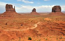 Free Monument Valley Royalty Free Stock Photography - 14785447