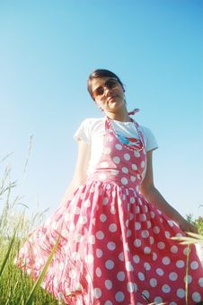 Free Girl In Pink Dress Royalty Free Stock Images - 14785469