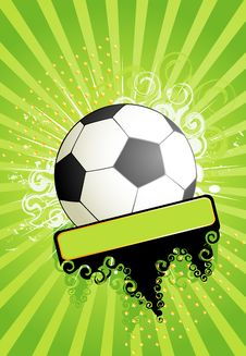Free Football On A Grange Background Royalty Free Stock Photos - 14785848