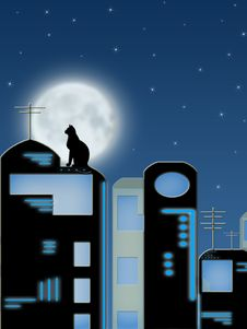 Free Roofs Of The Night City Stock Photos - 14785963