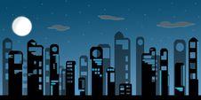 Night Modern City Royalty Free Stock Image