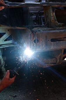 Free Welding  Metal  Smoke  Sparks Stock Photos - 14786803
