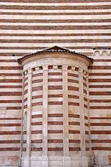 The Duomo Church Wall In Verona, Italy
