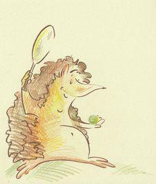 Free Tennis Hedgehog Royalty Free Stock Image - 14787016