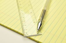 Free Pen And Ruler Stock Images - 14787154