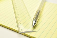 Free Pen And Ruler Royalty Free Stock Photos - 14787158