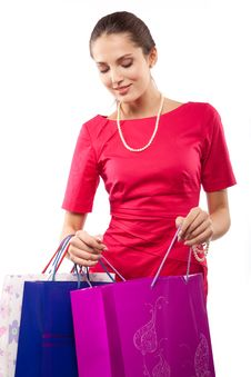Free Woman Shopper Royalty Free Stock Photo - 14787345