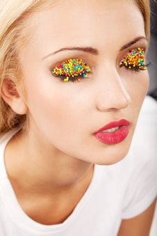 Free Bright Makeup Royalty Free Stock Photography - 14787367