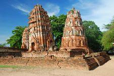 Free Mahatad Temple Ayuttaya Thailand Stock Images - 14787604