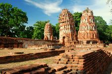 Free Mahatad Temple Ayuttaya Thailand Stock Images - 14787634