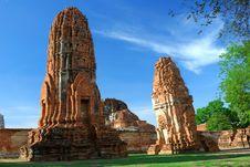 Free Mahatad Temple Ayuttaya Thailand Stock Photos - 14787663