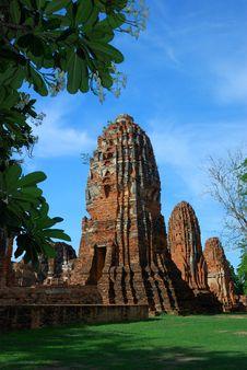 Free Mahatad Temple Ayuttaya Thailand Royalty Free Stock Photos - 14787708
