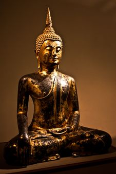 Free Sitting Bodhisattva - Detail Royalty Free Stock Photo - 14787915