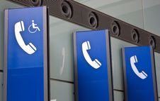 Free Telephone Sign Stock Photography - 14787982