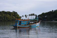 Boat In Sea .Thailand . Royalty Free Stock Photo