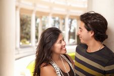 Free Attractive Hispanic Couple Portrait Outdoors Royalty Free Stock Image - 14788586