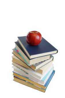 Free Stack Of Books With Red Apple Royalty Free Stock Images - 14789119