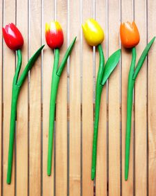 Free Colorful Fake Tulips Stock Photo - 14789200