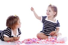 Free Small Children Play With Toys Royalty Free Stock Photos - 14789438