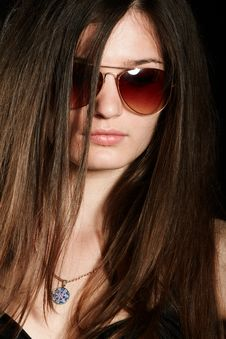 Free Girl In Sunglasses Royalty Free Stock Photos - 14789878