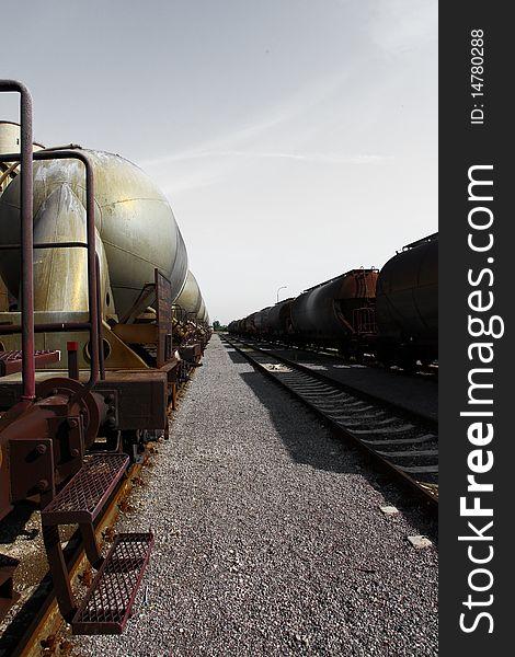 Railway and wagons