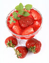 Free Jelly With Strawberries Stock Images - 14790864