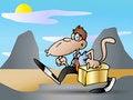 Free Late Monkey Businessman Royalty Free Stock Photos - 14795988