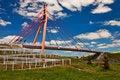 Free Pedestrian Bridge Over Highway. Stock Image - 14796241