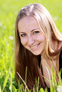 Free Woman On The Green Grass Stock Photos - 14799953