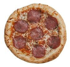 Free Italian Salami Pizza Royalty Free Stock Photos - 14790168