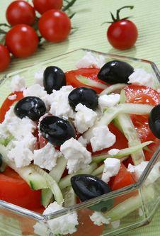 Free Greek Salad Royalty Free Stock Photography - 14790527
