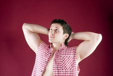 Free Nice Strong Guy Looks Up Stock Photos - 14791013