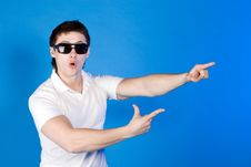 Free Surprised, The Boy In Glasses Shows Stock Photo - 14791310