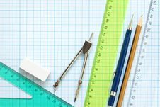 Free Drawing Tools Background Royalty Free Stock Photo - 14791445