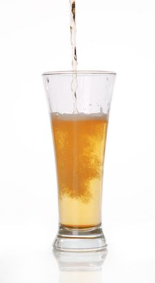 Glass Of Beer Close-up Stock Image