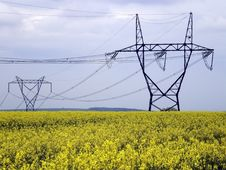 Free Electric Pylons Royalty Free Stock Image - 14791656