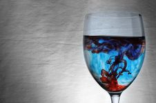 Free Blue And Red Liquid In Wineglass Stock Photo - 14791720
