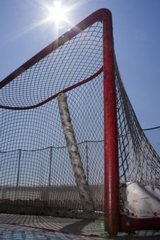 Roller Hockey Net Stock Photos